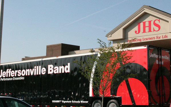 Jeffersonville High School Bands had a dedication ceremony for their new band trailer on April 20th. <br /> <br /> Photographer's Name: Becky Herald<br /> Photographer's City and State: Jeffersonville, IN