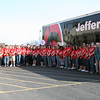 The Jeffersonville High School Band with their new trailer. The trailer was paid for with money donated by John Woehrle and from the proceeds from their $10,000 cash raffle.<br /> <br /> Photographer's Name: Becky Herald<br /> Photographer's City and State: Jeffersonville, IN