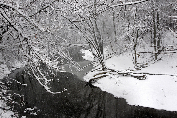 #holidaycard  A snow-covered Wildcat Creek, Kokomo. Taken on 12/14/13.<br /> <br /> Photographer's Name: Ashley Simmons<br /> Photographer's City and State: Kokomo, IN