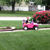 When the wheelbarrow has flat tires, it's no big deal when you have my granddaughter Addi Driver around.  She had a blast hauling around dirt with her Jeep!<br /> <br /> Photographer's Name: Diane Driver<br /> Photographer's City and State: Kokomo, IN