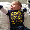 For those about to ROCK....We salute you!! David Glickfield V starting his rock days early!<br /> <br /> Photographer's Name: Maggie Nelson<br /> Photographer's City and State: kokomo, IN
