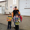 Grant Walker and Jack Hite donating toys for the Rescue Mission's Christmas boxes.<br /> <br /> Submitted by Roberta Hite.