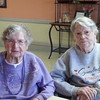 On Groundhog Day my aunt Marie Boyd (on left) celebrated her 103rd birthday with my 91-year-old mother, Eleanor Tyre, on the right.<br /> <br /> Photographer's Name: Roberta Hite<br /> Photographer's City and State: Kokomo, IN