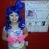 western primary 2nd grader destiny bratcher dressed up as Katy Perry for her school wax museum<br /> <br /> Photographer's Name: cathy bratcher<br /> Photographer's City and State: kokomo, IN