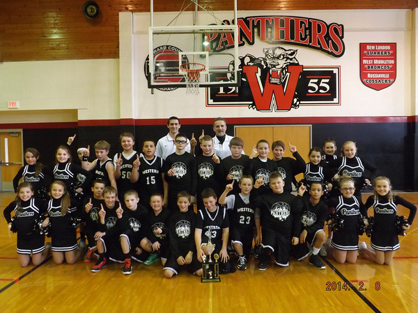 Western's 5th grade boys basketball team held off Eastern to win the championship game of the Howard County Tourney.<br /> <br /> Photographer's Name: Nancy Erb<br /> Photographer's City and State: Russiaville, IN
