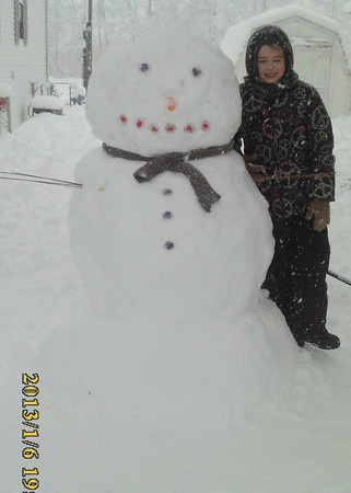 Finished snowman<br /> <br /> Photographer's Name: Beth Forker<br /> Photographer's City and State: Kokomo, IN