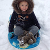 First time seeing snow!! Sledding!!<br /> <br /> Photographer's Name: Kailyn Hinkle<br /> Photographer's City and State: Phoenix, AZ