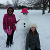 summer and destiny bratcher made a snow woman <br /> <br /> Photographer's Name: cathy bratcher<br /> Photographer's City and State: kokomo, IN