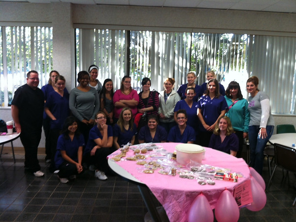 Ivy Tech Dental Assisting Students raising money for breast cancer awareness in the month of October <br /> <br /> Photographer's Name: Anna  Pottenger<br /> Photographer's City and State: Galveston, IN