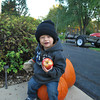 Hunter having a snack on his punpkins.<br /> <br /> Photographer's Name: Nell Douglas<br /> Photographer's City and State: Kokomo, IN
