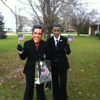 Kelsi Dye (Romney) and Erin Miller (Obama) Halloween in Sharpsville 2012<br /> <br /> Photographer's Name: Gail Miller<br /> Photographer's City and State: Sharpsville, IN