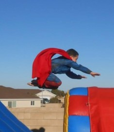 Avery Underwood flys like superman on his 7th birthday!<br /> <br /> Photographer's Name: Jan Underwood<br /> Photographer's City and State: Kokomo, IN