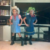 Twins Rebekah and Regan McGuire, first grade, dressed up for Western's homecoming week. Photo submitted by Belva Likens