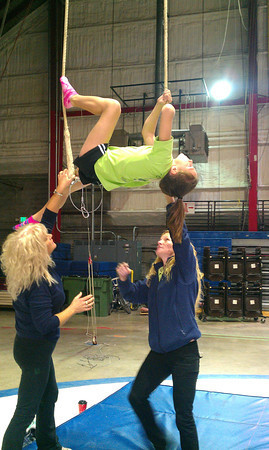 Peru Circus Offering Winter Skills Classes still time to sign up Courtlyn Crowe practicing<br /> <br /> Photographer's Name: Kim Cox<br /> Photographer's City and State: Peru, IN