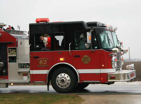 Santa visits Taylor Township Dec 21 thanks to the Volunteer Fire Department<br /> <br /> Photographer's Name: Emily Roark<br /> Photographer's City and State: Kokomo, IN