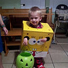 Dailen, in a homemade SpongeBob costume, ready for trick or treating.<br /> <br /> Photographer's Name: Nicole Parsons<br /> Photographer's City and State: Kokomo, IN