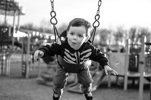 Andrew Monroe, 2, plays at the park. Photo submitted by Mercedes Monroe