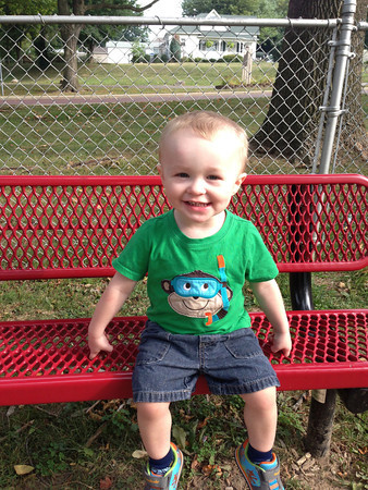 Eli, 2, enjoys spending time in the park with Grandma Riffe. Submitted b