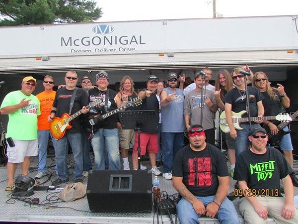"Kokomo Musicians unite for ""I'M IN"" Benefit Ride for Joe Baker at Kokomo Harley Davidson Store.<br /> <br /> Photographer's Name: Darren Nakanishi<br /> Photographer's City and State: Kokomo, IN"