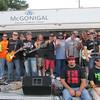 "Kokomo Musicians unite for ""I'M IN"" Benefit Ride for Joe Baker at Kokomo Harley Davidson Store.<br /> <br /> Photographer's Name: Darren Nakanishi<br /> Photographer's City and State: Kokomo, IN"