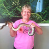 Belva Likens holds a snake at the Animal Wellness Center. Photo submitted by Belva Likens