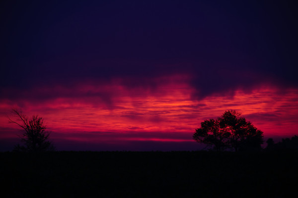 A firey sky. Photo submitted by Amanda Harvey