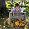Hunter West hanging out with the gourds at the Pumpkin Patch.  <br /> <br /> Photographer's Name: Nell Douglas<br /> Photographer's City and State: Kokomo, IN