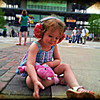 Miley Miller enjoys her first time at the yard of bricks. Photo submitted by Brad Miller