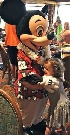 Claire Rush, 4, Greentown, was excited to meet Mickey Mouse at Walt Disney World. Photo sub