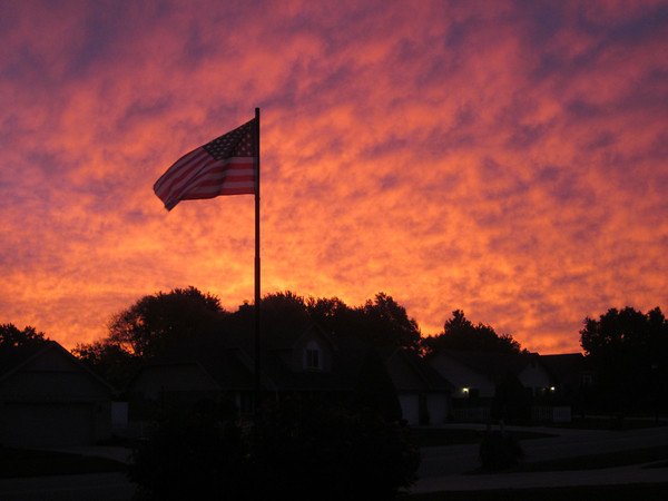 Beautiful sunrise on an October morning<br /> <br /> Photographer's Name: Bonnie Beale<br /> Photographer's City and State: kokomo, IN