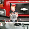 Baby James, 14 months old, visits his daddy at work.<br /> Submitted by Amber Lipinski.