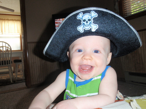 Ahoy Mate. Corbin Boyd, 8 months, ready to set sail.<br /> <br /> Photographer's Name: Debra Boyd<br /> Photographer's City and State: Kokomo, IN