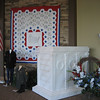 Tomb of the unknown soldier and a handmade quilt (Virginia Rush) of the 50 states.  Decorations for Voices of Freedom Patriotic Program.<br /> <br /> Photographer's Name: Jan Myers<br /> Photographer's City and State: Greentown, IN