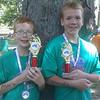 Brothers Gradyn and Brendyn Rogers won 1st place in the 2012 Kokomo Sports Center Kids Kokomo Tryathlon <br /> <br /> Photographer's Name: Randy Rogers<br /> Photographer's City and State: Kokomo, IN