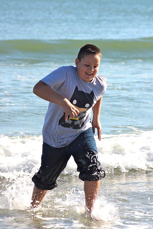 Nathan Rush, 10, Greentown, saw the ocean for the first time on a fall break trip to Myrtle Beach.<br /> <br /> Photographer's Name: Danielle Rush<br /> Photographer's City and State: Greentown, IN