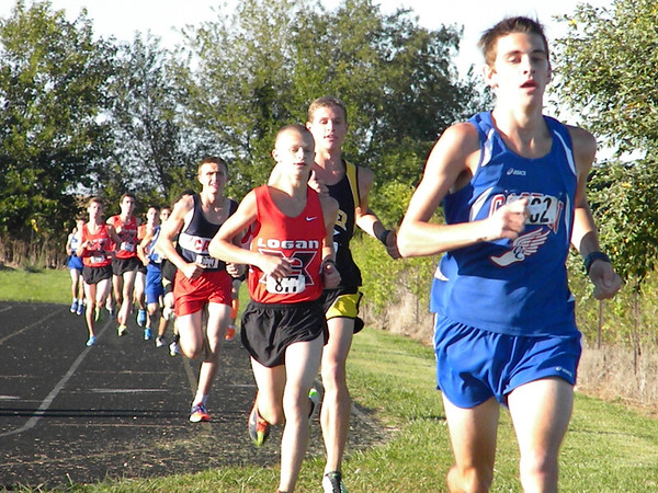 County XC Meet - Seth Cousins, Caston - Jake Graf, Lognansport - Dylan Bice, Pioneer <br /> <br /> Photographer's Name: Pam Graf<br /> Photographer's City and State: Logansport, IN