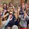 Lewis Cass Girls Varsity celebrates as the Cass County Champs.<br /> <br /> Photographer's Name: Annette Spear<br /> Photographer's City and State: Logansport, IN