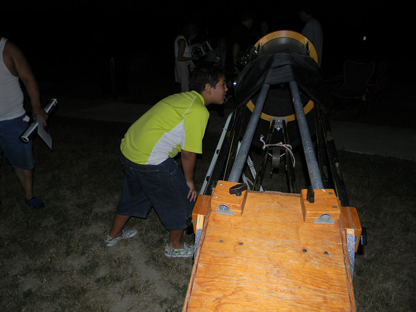 Logansport Parks Department hosted a Star Party at Huston Park with telescope provided by Astronomer, Forrest Hamilton. The event took place on Saturday night, July 20th.<br /> <br /> Photographer's Name: Janet Fawley<br /> Photographer's City and State: Logansport, IN