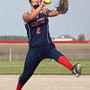 Tori Rentschler Pitching for Caston 2014.  Her season is over now due to a stress fracture in her spine.  <br /> <br /> Photographer's Name: Lisa Rentshcler<br /> Photographer's City and State: Fulton, IN