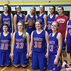 Caston girls basketball team beat North White and captured the Midwest conference traveling trophy, the bucket.  First row: L - R Bailee Hook, Megan Evans, Addie Sarver, JC Denton, Sarah Holt. Back row, L - R: Hanna Cousins, Emily Rowe, Anna Brown, Marli Leazenby, Tierney Rentschler, Mikayla Rans, Katie Henry, Madison Taylor<br /> <br /> Photographer's Name: Pat Brown<br /> Photographer's City and State: Fulton, IN