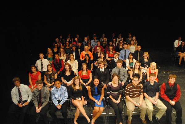 Logansport High School 2012 National Honor Society Inductees<br /> <br /> Photographer's Name: Kim  Steele<br /> Photographer's City and State: Logansport, IN