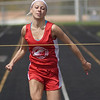 Ashley Spear won first place in the 100 meter, 200 meter, second place in the 400 meter and second place in long jump.<br /> <br /> Photographer's Name: Annette Spear<br /> Photographer's City and State: Logansport, IN