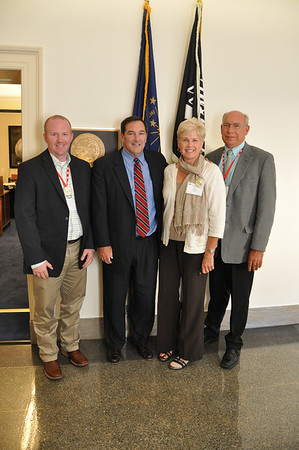 Nick Sommers, left; Deb and Jim Walsh right representing Pulaski and Fulton Counties Farm Bureau and Indiana Farm Bureau, met with Congressman Joe Donnelly in his Washington DC office on 9/11/12 to discuss options to get the Farm Bill to the House Floor for a vote prior to the current farm bill expiring on 9/30/12.<br /> <br /> Photographer's Name: Jim Walsh<br /> Photographer's City and State: Rochester, IN