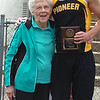 Lib Kinder presenting the Fred Kinder StAr of Star award at Cass County meet<br /> <br /> Photographer's Name: Sherry  Whitcomb<br /> Photographer's City and State: Kokomo, IN