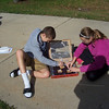 Students from Mrs. McAndrews' 7th grade science class at Columbia Middle School recently made solar cookers to experience how electromagnetic energy from the sun can be converted into heat energy. They used that heat to cook s'mores.<br /> <br /> Photographer's Name: Sally McAndrews<br /> Photographer's City and State: Logansport, IN