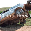 Our Clinton Herald was late, the poor driver hit the rails on the bridge. He was so lucky.<br /> <br /> Photographer's Name: Virginia Kleinschmidt<br /> Photographer's City and State: Goose Lake, IA
