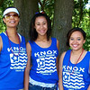 Estella Voda, Jenna Dunlap, and Brigita Wilson sport their family t-shirts at The Knox Family Reunion<br /> <br /> Photographer's Name: Mindy Dunlap<br /> Photographer's City and State: Clinton, IA