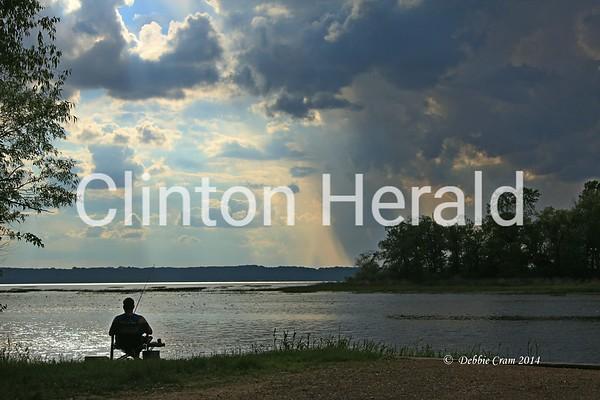 Summer Photo Contest,,Lone fisherman, Debbie Cram, dgcram@yahoo.com<br /> <br /> Photographer's Name: Debbie Cram<br /> Photographer's City and State: Thomson, IL