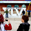 1-27-12<br /> Super Bowl XLVI - Super Bowl Village<br /> Photos in front of the 6 foot Superbowl sign is only a few places for photo ops.<br /> Kokomo Tribune | Tim Bath