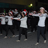 The dance line of the 50th Regiment band marches up First Street in the Moultrie Christmas Parade Thursday, Dec. 12, 2013.<br /> <br /> Photographer's Name: Kevin Hall<br /> Photographer's City and State: Moultrie, GA